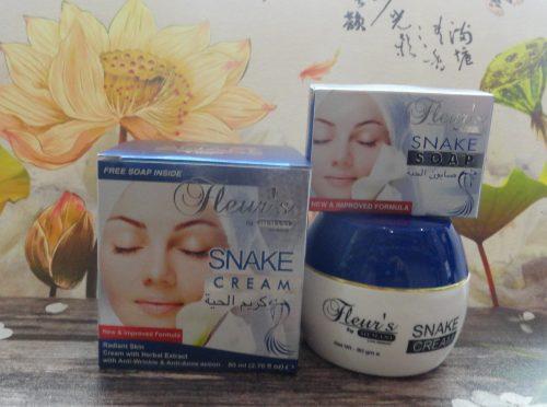 Крем для лица с жиром змеи Fleurs (Флерс), 80гр + мыло 30гр