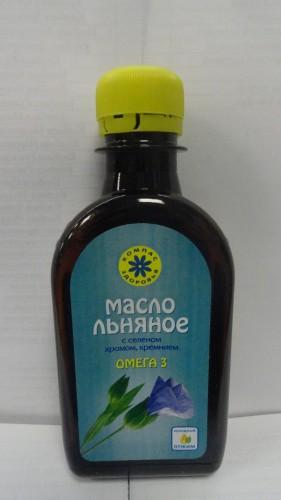 Масло льняное с селеном, хромом и кремнием «Компас здоровья», 200мл