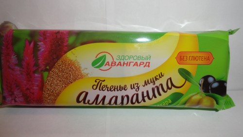 Печенье на оливковом масле из амарантовой муки без сахара, без глютена, 120гр