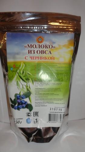 «Молоко» из овса с черникой, 150гр