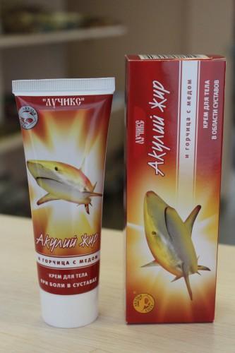 Крем для тела «Акулий жир» и горчица с медом, 75мл