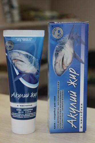 Крем для тела «Акулий жир» и чистотел, 75мл