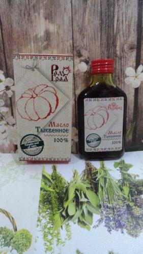 Масло тыквенное «Радоград» первый холодный отжим (класс extra virgin), 100мл