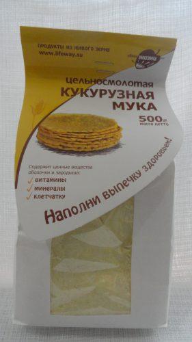 Мука кукурузная цельносмолотая, 500гр