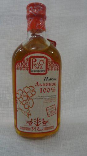 Масло льняное «Радоград» первый холодный отжим (класс extra virgin), 350мл