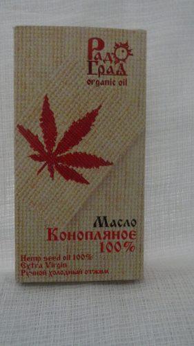 Масло конопляное «Радоград» первый холодный отжим (класс extra virgin), 100мл