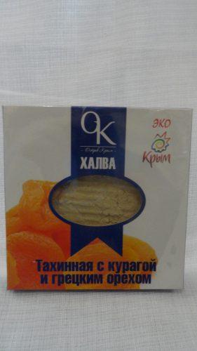 Халва тахинная с курагой и грецким орехом, 300гр