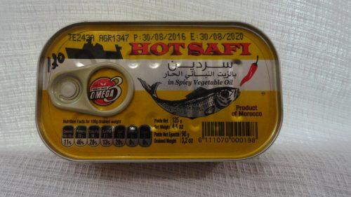 Сардины в масле с перцем (острые) «Safi» (Сафи), 125гр