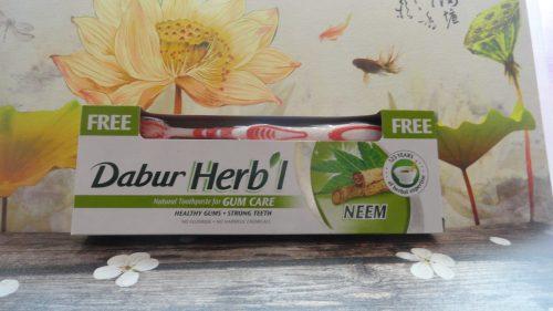 Зубная паста Dabur Herb'l (Дабур Хербл) с деревом Ним + щетка, 150гр