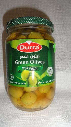 Оливки зеленые Durra (Дарра), 650гр