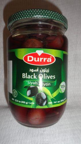 Оливки черные Durra (Дарра), 650гр
