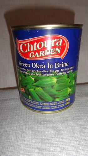 Зеленая Окра в рассоле (Green okra in brine) Chtoura (Чтаура), 840гр