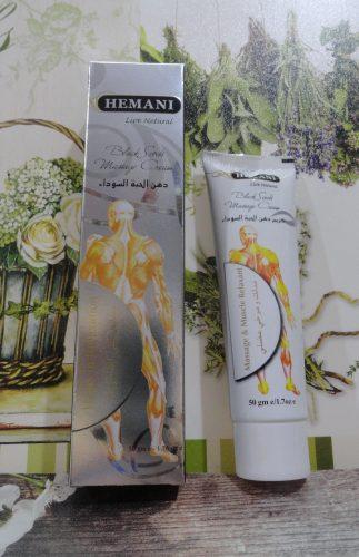 Мазь Хемани массажная с черным тмином (Hemani black seeds massage cream), 50гр