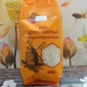 Рис длиннозёрный Краснодарский, 400гр