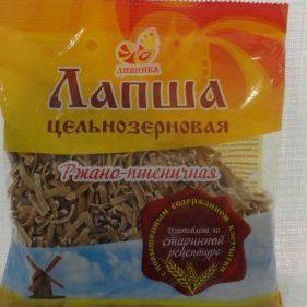 Лапша ржано-пшеничная цельнозерновая, 350гр