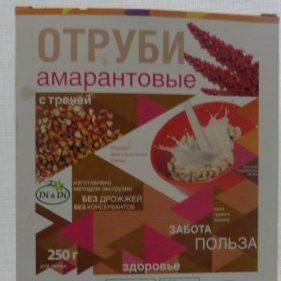 Отруби амарантовые с гречей «Ди энд Ди» (Di&Di), 250гр