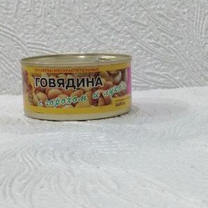 Говядина с горохом и луком, 325гр