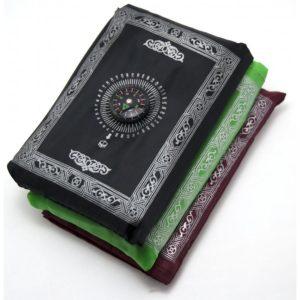 Коврик для намаза (намазлык) карманный с компасом