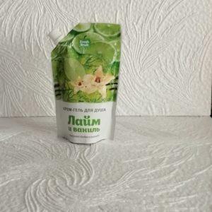 Гель для душа Fresh Fruit (Фреш фрут) – Лайм и ваниль, 200мл