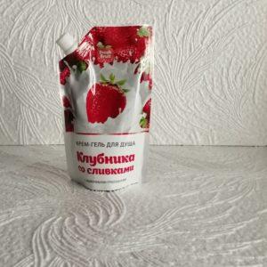 Крем-гель для душа Fresh Fruit (Фреш фрут) – Клубника со сливками, 200мл