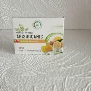 Леденцы Abisorganic (АбисОрганик) пихтовые с имбирем и лимоном, 32гр