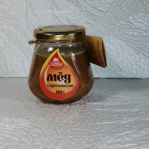 Мед с прополисом, 300гр