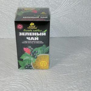 Зеленый чай Русская заварка с листом смородины, хвоей пихты и имбирем, 25пак.