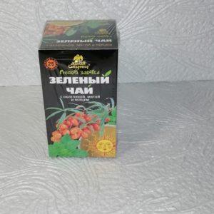 Зеленый чай Русская заварка с облепихой,мятой и перцем, 25пак.