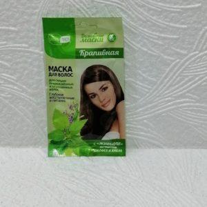 Маска для волос Natura лист (НатураЛист) домашняя – крапивная, 30мл