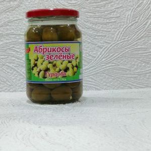 Абрикосы зеленые маринованные – Гураоба, 720мл